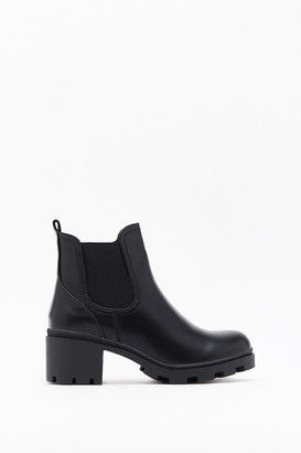 Nasty Gal Womens Meet Me at the Bar Faux Leather Ankle Boots - black - 3