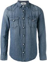 Cycle snap button shirt - men - Lyocell/Linen/Flax - M