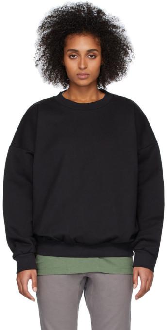 Fear Of God Black Sixth Collection Logo Sweatshirt