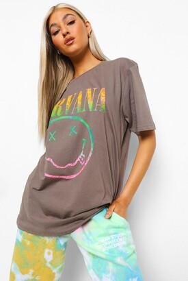 boohoo Tall Nirvana License Oversized T-shirt