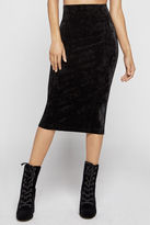 BCBGeneration Crushed Velvet Corset Pencil Skirt