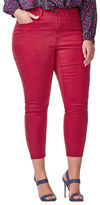 Addition Elle Love And Legend Cropped Skinny-Fit Solid Jeans