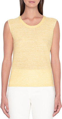 Akris Sequin Linen-Cotton Sweater