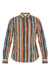 Paul Smith Artist Stripe-print single-cuff cotton shirt