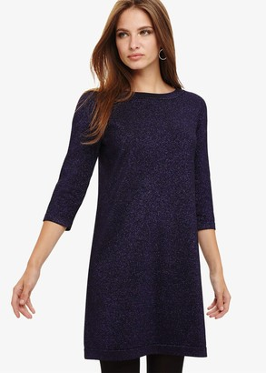 Phase Eight Sherri Shimmer Knitted Tunic Dress