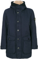 Stone Island hooded coat - men - Feather Down/Polyamide/Polyester - M