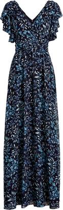 Ralph Lauren Print Georgette Gown