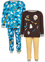 John Lewis Children's Halloween Pyjamas, Pack of 2