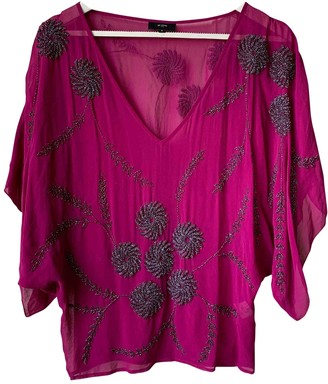Et Vous Pink Silk Top for Women