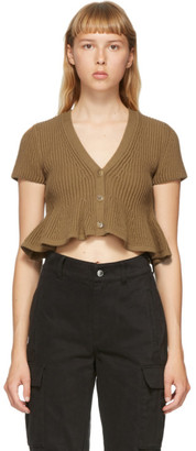 Alexander Wang Tan Cropped Cardigan