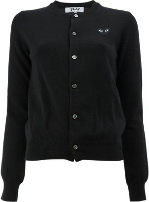 Comme des Garcons Button Front Cropped Cardigan