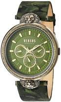 Versus By Versace Men's 'VICTORIA HARBOUR' Quartz Stainless Steel and Leather Casual Watch