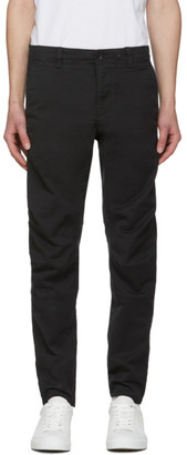 Rag & Bone Black Articulated Chino Trousers