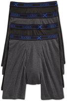 Hanes Men's 4 Pack Long-leg X-Temp Boxer Briefs