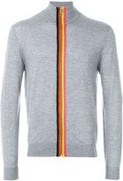 Paul Smith rainbow trim zip front sweater - men - Merino - XS