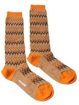 Missoni Gm00cmd5222 0005 Orange/tan Knee Length Socks.