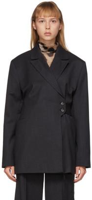 Ganni Grey Light Wool Blazer