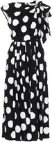 Carolina Herrera Polka-dot stretch-cotton dress