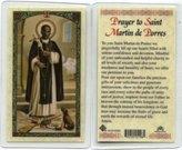 Prayer to St. Martin de Porres Holy Card (HC9-025E) - Laminated