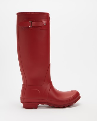 Hunter Women's Red Gumboots - Original Tall Wellington Boots - Women's - Size 5 at The Iconic