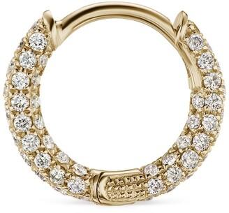 Maria Tash Diamond Five Row Pave Hoop Bottom Hinge Earring (6.5mm)