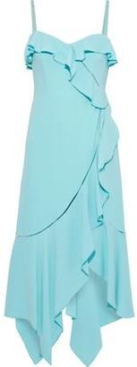 Jonathan Simkhai Asymmetric Ruffled Stretch-crepe Midi Dress
