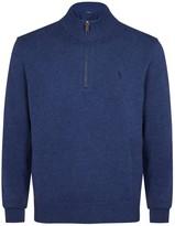 Polo Ralph Lauren Charcoal Zipped Cotton Jumper