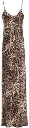 Nili Lotan Cami Gown Leopard-print Silk-satin Maxi Slip Dress