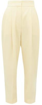 Petar Petrov Hampton Tailored Wool-twill Trousers - Womens - Light Yellow