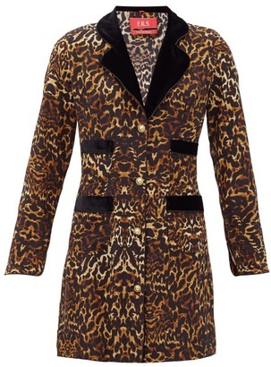 F.R.S For Restless Sleepers Salus Single-breasted Leopard-print Silk Jacket - Animal