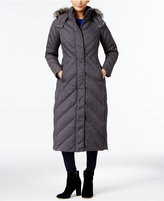 Larry Levine Faux-Fur-Trim Down Maxi Puffer Coat