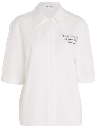 Off-White Embroidered Baseball Shirt