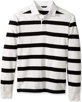 Nautica Men's Long Sleeve Striped Polo Shirt
