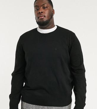 French Connection Plus plain logo crew neck knit sweater