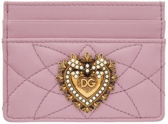 Dolce & Gabbana Pink Devotion Card Holder