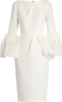 Roksanda Margot bell-sleeved dupion dress