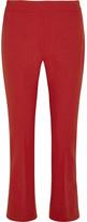 Max Mara Cropped Stretch-wool Flared Pants - UK12