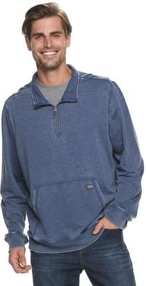 Heritage Men's Quarter-Zip Burnout Fleece Pullover