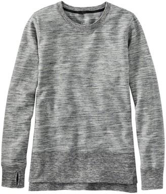 L.L. Bean Bean's Cozy Split Hem Sweatshirt Marled Women's Regular