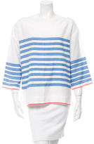 Lemlem Striped Three-Quarter Sleeve Top