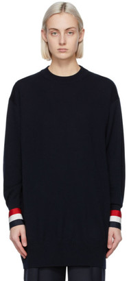 Thom Browne Navy Merino Oversized Fit Sweater