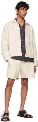 Kuro Off-White Denim Loose Baker Shorts
