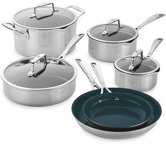 Zwilling J.A. Henckels Zwilling Clad CFX 10-Piece Stainless Steel Ceramic Nonstick Cookware Set