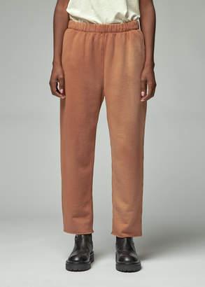 Raquel Allegra Women's Resin Washed Vintage Fleece Ankle Sweatpant in Terra Size 3 100% Cotton