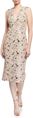 Dress the Population Colette Floral Lace Sequin Dress