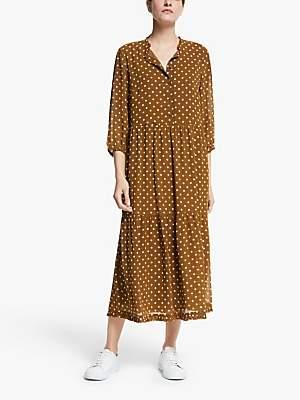 Y.A.S Dot Midi Dress, Mocha