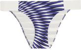 La Perla Op-art Printed Bikini Briefs - Bright blue