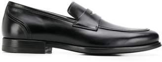Santoni polished finish loafers