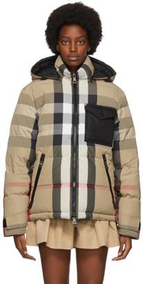 Burberry Reversible Beige Down Rutland Jacket