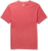 J.Crew Slim-fit Garment-dyed Slub Cotton-jersey T-shirt - Red